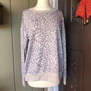 Splendid Leopard Print Soft Cozy Sweatshirt  M